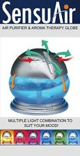 Air Purifier And Aroma Therapy Infuser Globe Humidifier Multi Colour Night Light