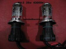 2 Bombillas Recambio H4 H4-3 HID kit Bi-xenon 35w 4300kº