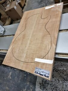 5A Flame Maple Carve Top Book-matched Set Luthier Guitar Making Wood 25.5mmthick