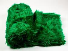 "Throw Blanket / Bed Spread Kelly Green faux fur Shaggy Coverlet 108"" x 60"""