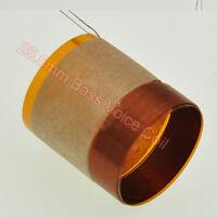 2pcs 25.5mm Audio Bass Speaker Voice Coil Subwoofer Woofer Sound Drive Copper
