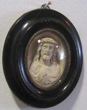 Cornice ovale Napoleone III - scultura in caolino - arte sacra - Cristo