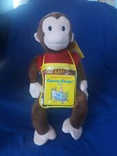 """New ListingZoobies Retired Curious George 23"""" Plush & Blanket Combo Pillow 70th Anniversary"""