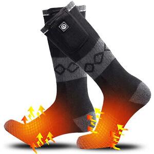Electric Heated Socks 7.4V 2200mAh Rechargable Battery Winter Warm