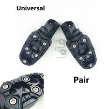 1 Pair Universal Motorcycle ATV Scooter Footrests Foot Peg Mount Pedals Black