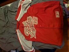 Fubu Sports 05 Baseball Collection Vtg 1990s Sewn Shirt Jersey Mens Xl (20) Red