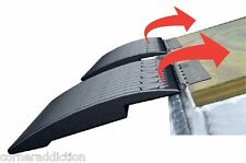 Caliber Trailer Snowmobile Ski Edge Glide System 4 Pack w/ Hinges 13361