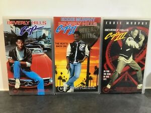 BEVERLY HILLS COP 1-2-3. VHS/PAL. SMALL CASE. A RARE FIND.
