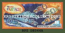 BPZ kinder Fantasy vaisseau spatial orange / rouge DE044A France 2009