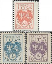 Central Lithuania 1A-3A (complete issue) used 1920 clear brands