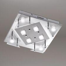 WOFI lámpara LED de techo IMPRESS 8-flg Cromo Vidrio 24 vatios 1840 lúmenes