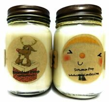 COMBOO - Snowman Poop and Reindeer Poop Set of Two 16oz All Natural Soy Candles