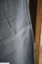 Antique French large CLOTH heavy indigo damask LINEN c1900