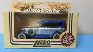 LLEDO 1/64 Diecast ROLLS ROYCE SILVER GHOST 1925 TOURER Blue Rare New DG25001