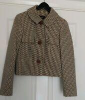 Reiss Wool Blend Boucle Blazer Jacket UK Size 8