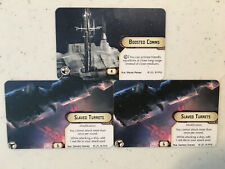 x3 Slaved Turrets Boosted Comms Star Wars Armada Alt Art Prizes Official FFG OP