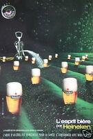 PUBLICITÉ 2002 L'ESPRIT BIÈRE PAR HEINEKEN - ADVERTISING