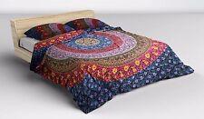 Indian Elephant Mandala Reversible Bedding Duvet Doona Cover Set Queen Blanket