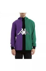 Mens Kappa Hoodie Boisalf Violet Green Black NWT Authentic SOLD OUT $145 Retail