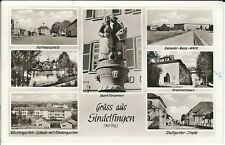 """Ansichtskarte Sindelfingen """"Rathausplatz, Krankenhaus, Schule"""" - schwarz/weiß"""