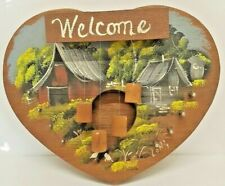 Entrance Welcome Message Percussion Home Door Decoration Wind Chime Wood Barn