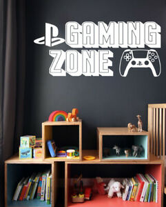 Gaming Zone Wall Stickers Playstation 5 Controller Gamer Vinyl Decals PS5 GZ-2
