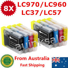 8x Ink Cartridge LC970 L960 LC57 LC37 for Brother DCP 130C 150C MFC 260C685CW