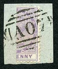 Dominica SG5a or SG14a 1d Lilac Perf 14 Bisected on Piece Cat from 2250 on cover