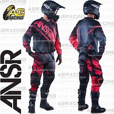"""Answer Syncron Adult Black Grey Red Jersey & Pant Combo Kit 28"""" & MD"""