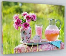 SUMMER FLOWER GARDEN CANVAS PICTURE PRINT WALL ART CHUNKY FRAME LARGE 349-2