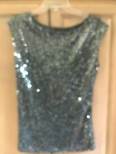 Limited Grey/silver sequined top sXS..NWT