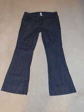LUCKY RINSE KINZIE TROUSER DOUBLE BUTTON TAB TOP FLARE COTTON JEANS 6 / 28 SHORT