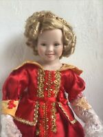"Shirley Temple By Danbury Mint 1993 17"" Tall Porcelain"