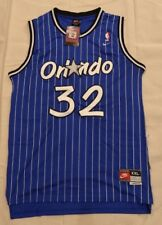 NWT - Orlando Magic Shaquille Oneal Blue Pin-stripped 2XL Stitched Jersey