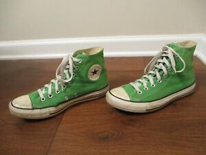 Used Worn Size 8 Fit Like 8.5-9 Converse Chuck Taylor All Star Hi Shoes Lime