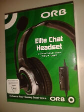 XBOX ONE * ORB ELITE CHAT WIRED HEADSET * Adapter needed or new style controller