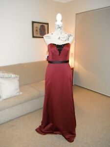 Designer Alfred Angelo Ladies Mahogany/Black Formal/Evening/Event Gown Size 8