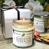 Gardenia Tuberose, Handmade Soy Candle that smells AMAZING 4oz Highly Scented