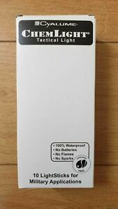 BRAND NEW BOX OF 10 CHEMLIGHT RED 12HOUR GLOWSTICKS