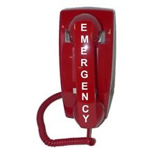 911 Emergency Hot-line Dialer Wall Phone, Red, in Excellent Condition!
