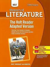 USED (VG) Holt Elements of Literature: The Holt Reader, Adapted Version Fifth Co