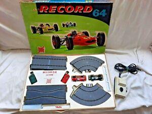 Rare vintage coffret circuit routier électrique Record 64 Junior Etat comme NEUF