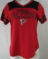 Atlanta Falcons NFL Touch Stadium Women's Red Short Sleeve V-Neck T-Shirt