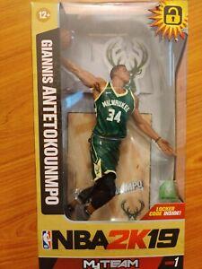 Giannis Antetokounmpo McFarlane NBA 2K19 Action Figure Milwaukee Bucks MVP NIB