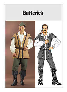 PATTERN to Sew Robinhood costume Butterick Pirate Will Turner 4574 S M L 34-44