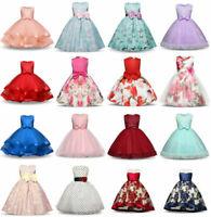 Flower Girls Princess Dress Baby Kids Party Wedding Bridesmaid Formal Dresses