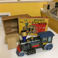 VINTAGE MASUDAYA (MODERN TOYS) TIN BUBBLE LOCOMOTIVE FULLY WORKING W/BOX. SWEET!