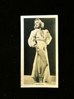 Marcia - Cigarette Card Carreras Film & Stage Beauties (1939) Collectable