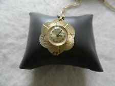 Vintage Swiss Made Superoma 17 Jewels Mechanical Wind Up Necklace Pendant Watch
