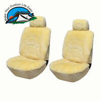 Genuine Universal Australian Sheepskin A Pair Low Back Seat Cover* Champagne